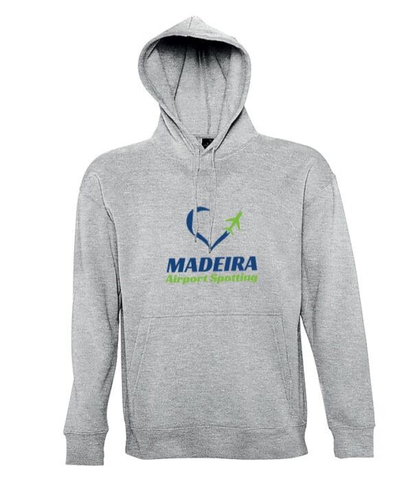 Hoodie Madeira Airport Spotting Grey
